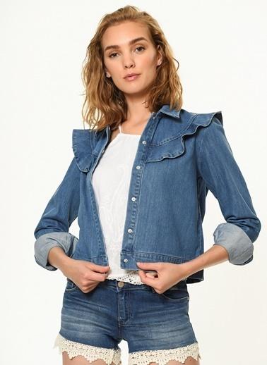 Vero Moda Jean Ceket Mavi